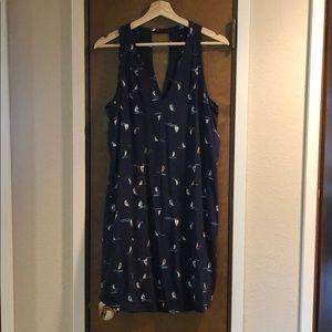 Gap summer sailboat print dress nwot, never worn